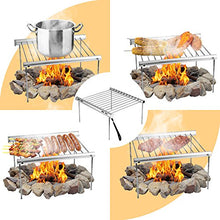 Load image into Gallery viewer, NASHRIO Portable Camping Grill, Folding Compact Stainless Steel Charcoal Barbeque Grill for Picnics, Backpacking, Backyards, Survival - MyBikeCo