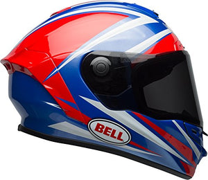 Bell Star MIPS Equipped Street Motorcycle Helmet (Gloss Red/Blue Torsion, Large) - MyBikeCo