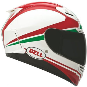BELL Race Day Star Street Bike Motorcycle Helmet - White/Red/Green/X-Large - MyBikeCo
