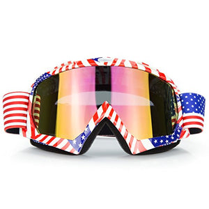 JAMIEWIN Motocross Motorcycle Goggles Motobike Riding Glasses and Dirt Bike ATV Downhill Goggles Mx Goggle Glasses for Adult and Youth (C61) - MyBikeCo