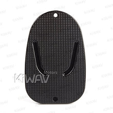 Load image into Gallery viewer, KiWAV Motorcycle kickstand pad support black x1 piece soft ground outdoor parking - MyBikeCo