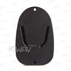 KiWAV Motorcycle kickstand pad support black x1 piece soft ground outdoor parking - MyBikeCo