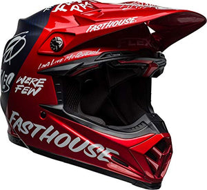 Bell Moto-9 Flex Off-Road Motorcycle Helmet (Fasthouse DITD Matte/Gloss Red Navy, Large) - MyBikeCo