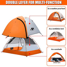 Load image into Gallery viewer, 2 Person Motorcycle Backpacking Tent for Camping Ultralight Waterproof Double Layer Easy Setup Bike packing - MyBikeCo