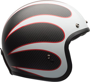Bell Custom 500 Carbon Open-Face Motorcycle Helmet (Ace Cafe Tonup Black/White, Large) - MyBikeCo