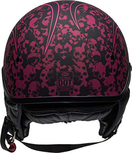 Bell Pit Boss Open-Face Motorcycle Helmet (Catacomb Pinstripe Pink, X-Small/Small) - MyBikeCo