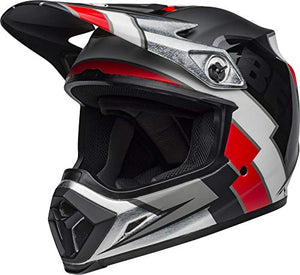 Bell MX-9 MIPS Off-Road Motorcycle Helmet (Twitch Replica Matte Gloss Black/Red/White, Large) - MyBikeCo