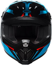 Load image into Gallery viewer, Bell MX-9 MIPS Off-Road Motorcycle Helmet (Gloss Black/Cyan/Red Torch, X-Large) - MyBikeCo