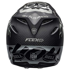 Bell Moto-9 Flex Off-Road Motorcycle Helmet (Fasthouse WRWF Matte/Gloss Black/White/Gray, X-Large) - MyBikeCo