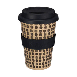 Husk Up - No Plastic Reusable Mug -  Black Mono