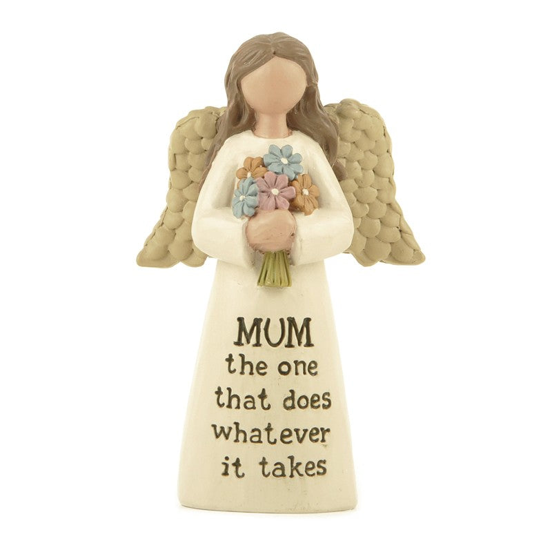 Mum Angel Figurine  - Mum does whatever it takes