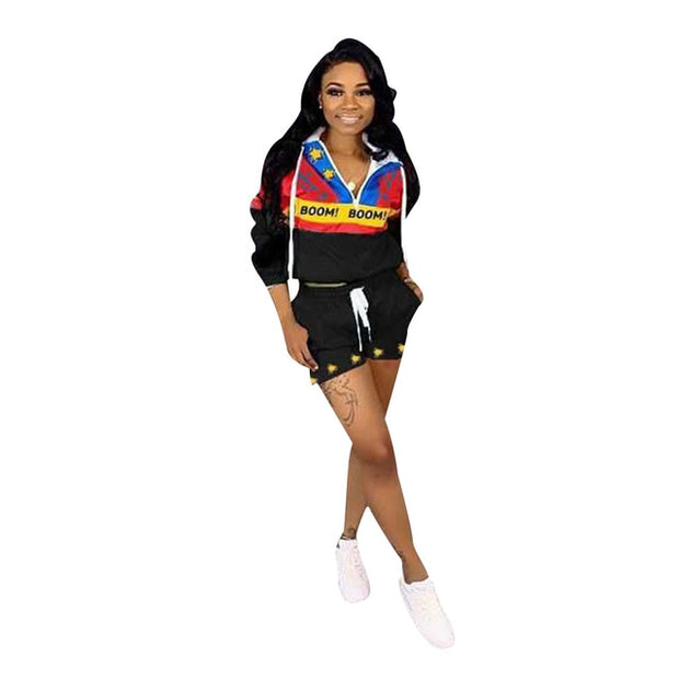 Casual Two Piece Hooded Tracksuit