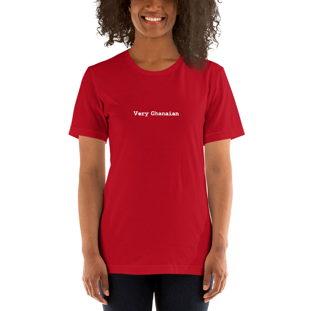 Very Ghanaian Red Unisex T-Shirt