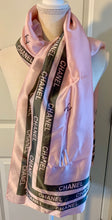 Load image into Gallery viewer, Pink silken C logo print scarf