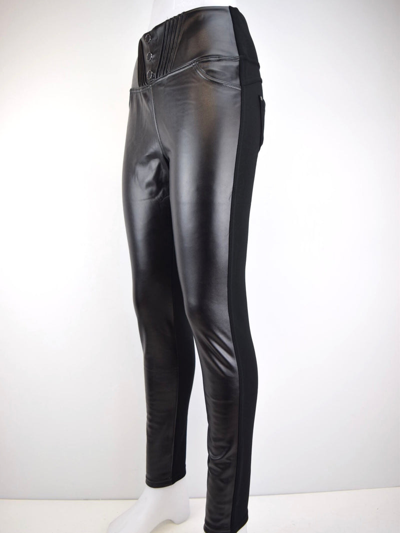 Pantalon polaire similicuir