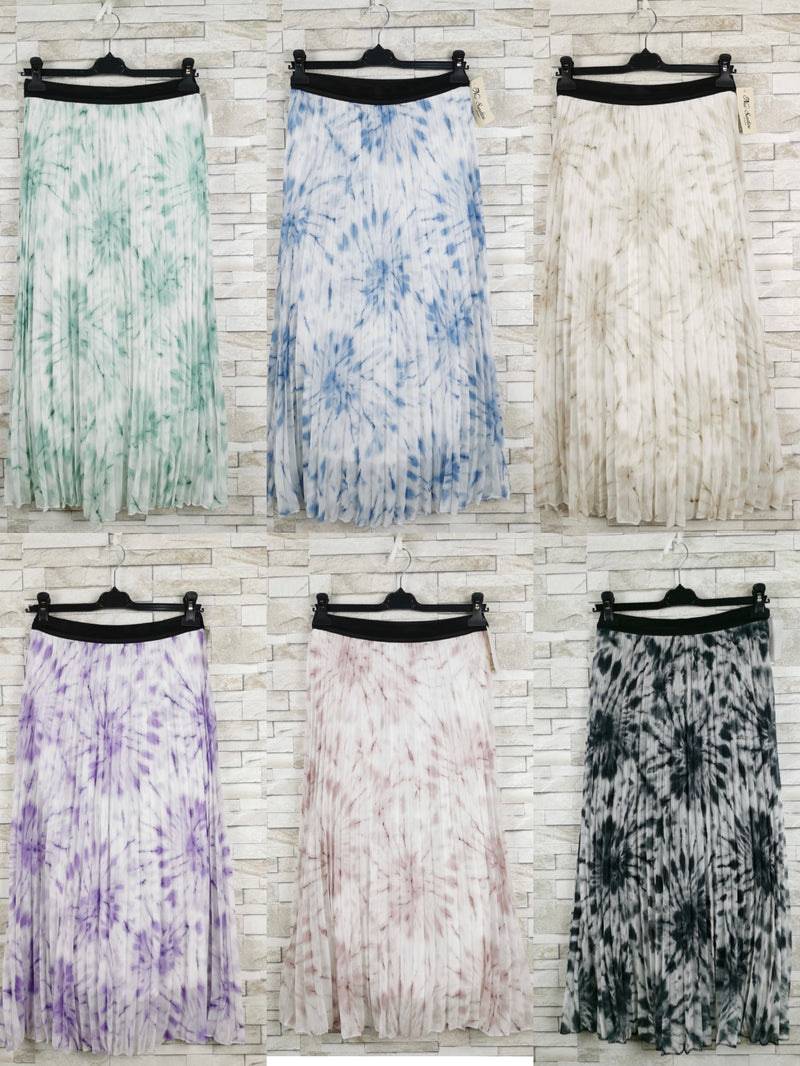 Jupe longue tie-and-dye (x9)