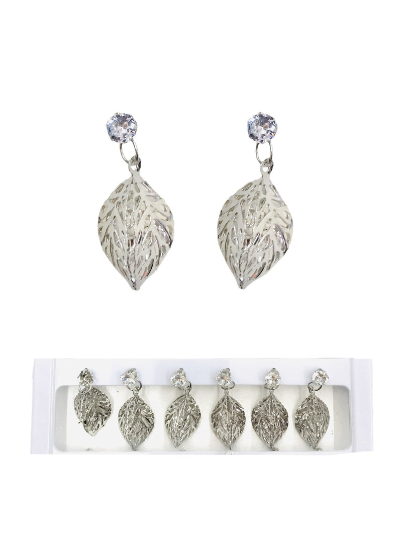 DESTOCKAGE LOT DE 12 - Boucles d'oreilles motif feuille     0,50€/paire | Grossiste-pro