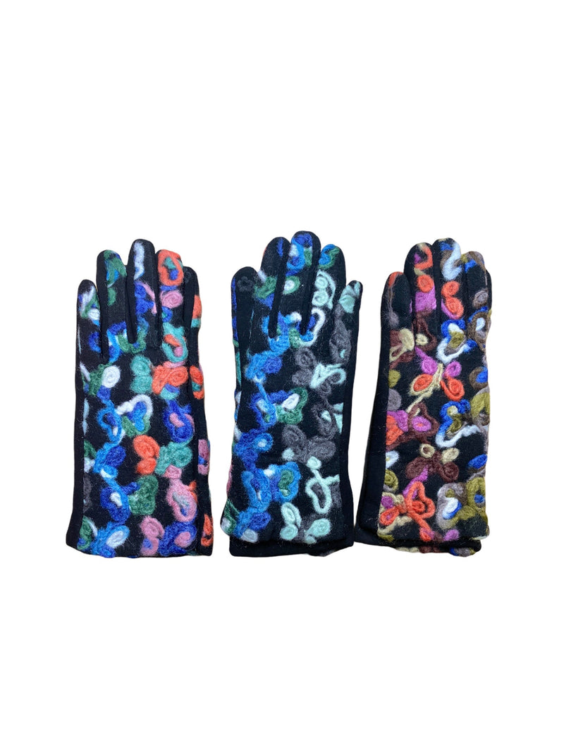 LOT DE 12 - Gants tactiles motif moumoute