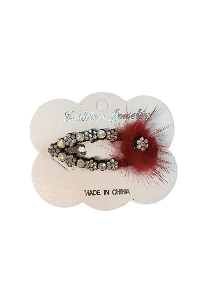 LOT DE 12 - Barrettes Pinces motif strass    0,75€/unité | Grossiste-pro