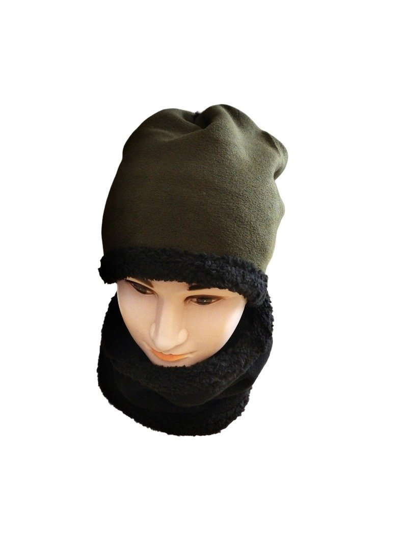 Snood 2-en-1 tour de cou bonnet HOMME     (x12)