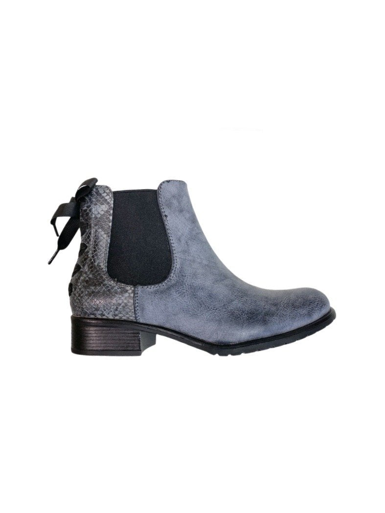 Bottines effet python boots TATIANA (x12)  16,50€/paire | Grossiste-pro