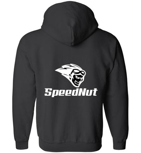 SpeedNut Zippered Hoodie - Black/White