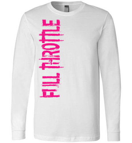 Full Throttle Long Sleeve Tee Pink