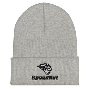 SpeedNut Cuffed Beanie Gray