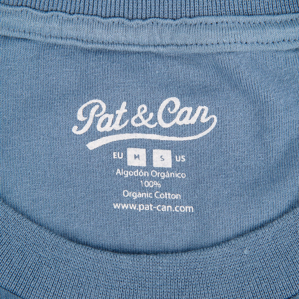 Camiseta HQ Pat&Can - Faded Blue