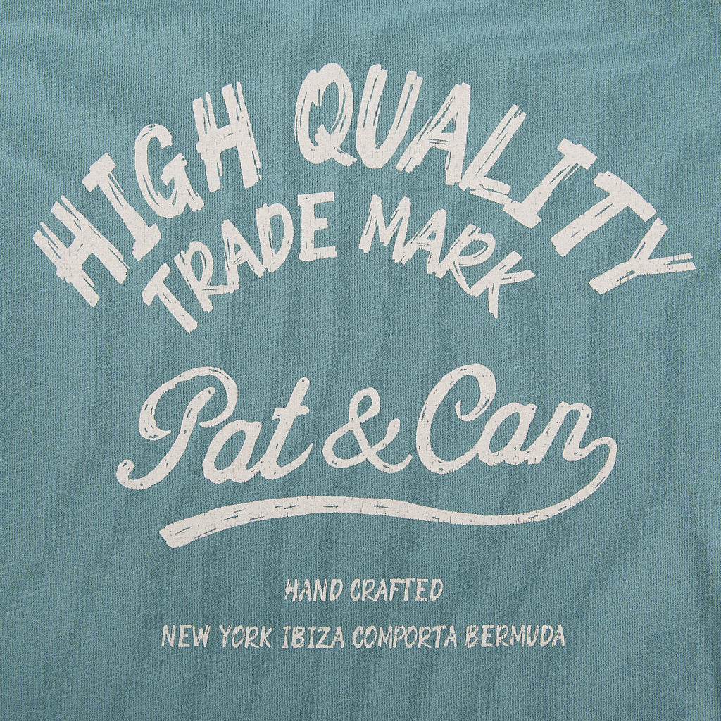 Camiseta HQ Pat&Can - Faded Green