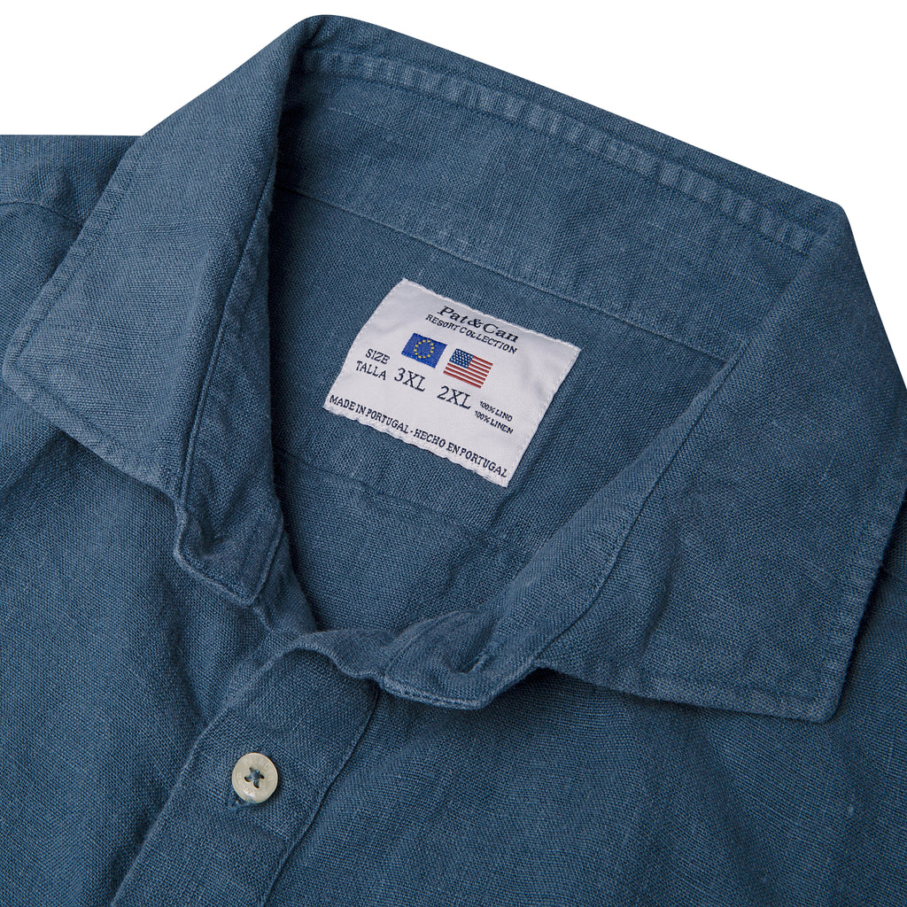 Polera lino100% V.3 Moonlight Blue