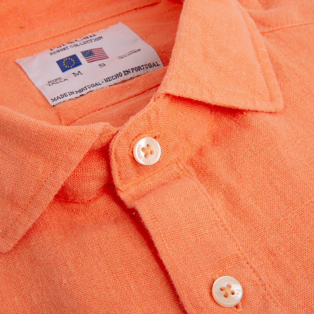Polera lino100% V.7 Orange Melon
