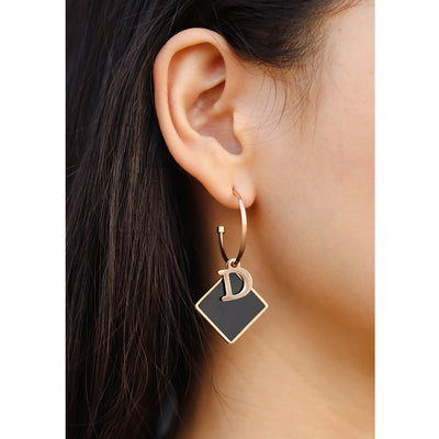 Black Rhombus Earrings