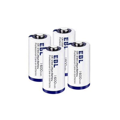 4 x EBL CR123 3V Lithium Batteries (CR123A, DL123, 123, EL123, CR17345) - poweraddmall