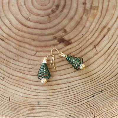Tree Dangle Hook Earrings