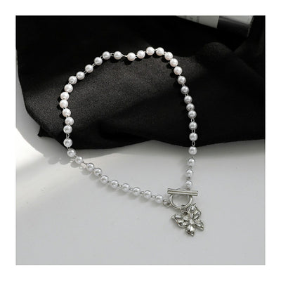 Pearls Butterfly Necklace