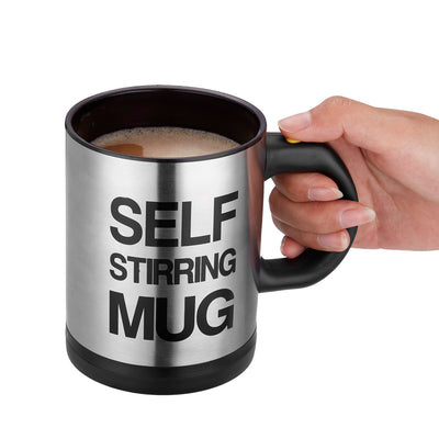 300ml Self Stirring Mug Coffee Cup Stainless - poweraddmall