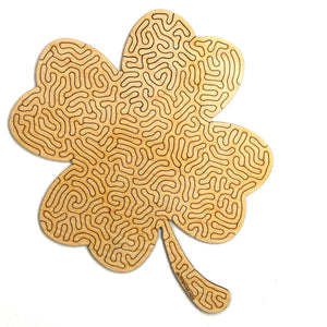 Four Leaf Clover | Wooden Puzzle | Entropy series | 46 pieces