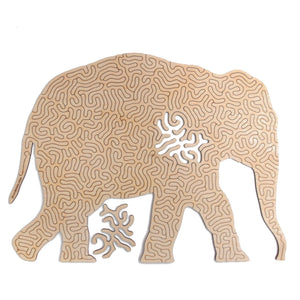 Elephant | Wooden Puzzle | Entropy series | 81 pieces