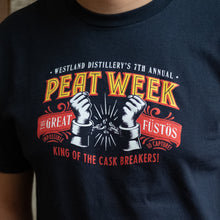 "Load image into Gallery viewer, ""The Escape Artist"" 7th Annual Peat Week T Shirt"
