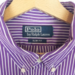 Load image into Gallery viewer, Polo by Ralph Lauren Striped Dark Purple Shirt