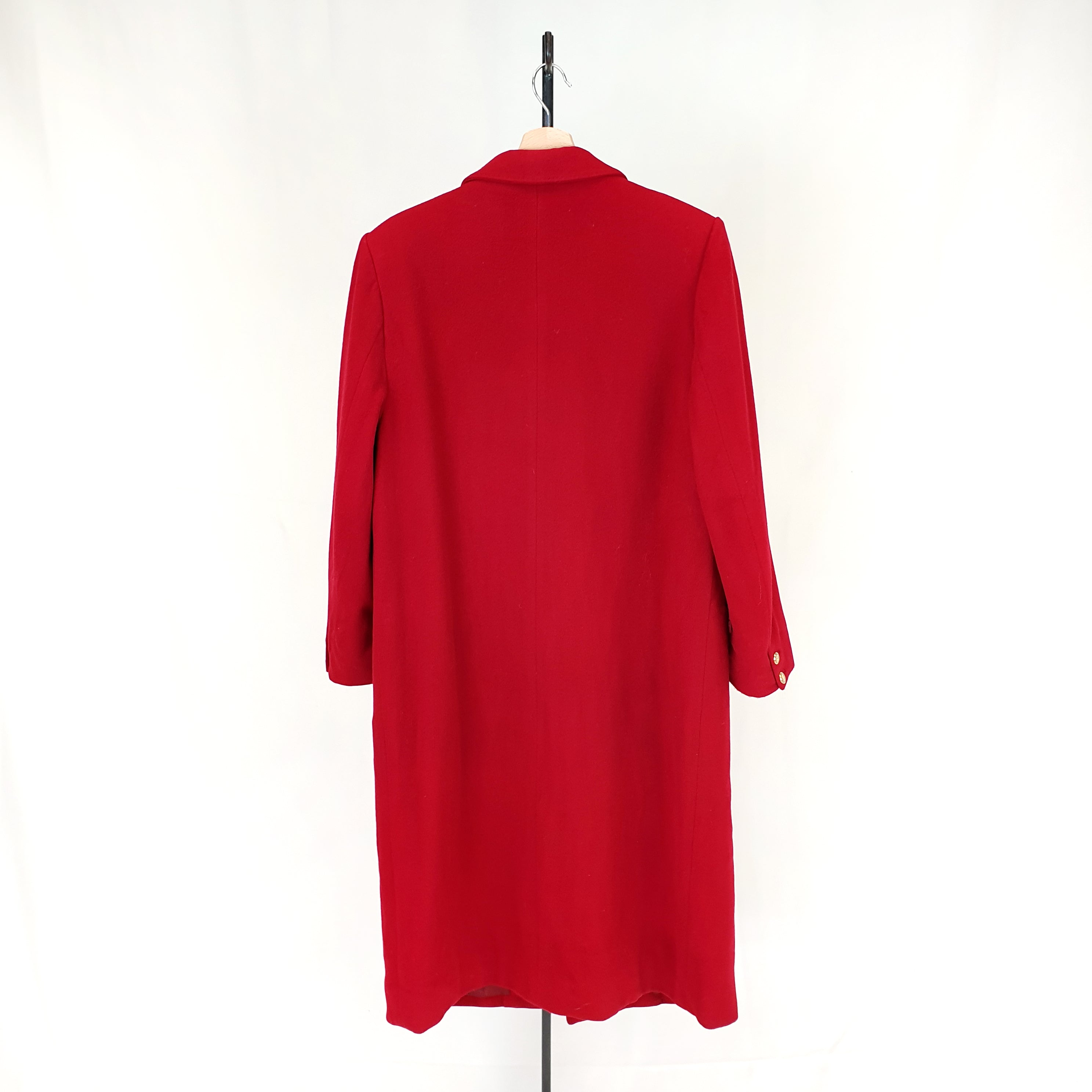Burberry Red Wool Coat