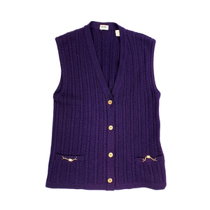 Céline vest with Gold Buttons