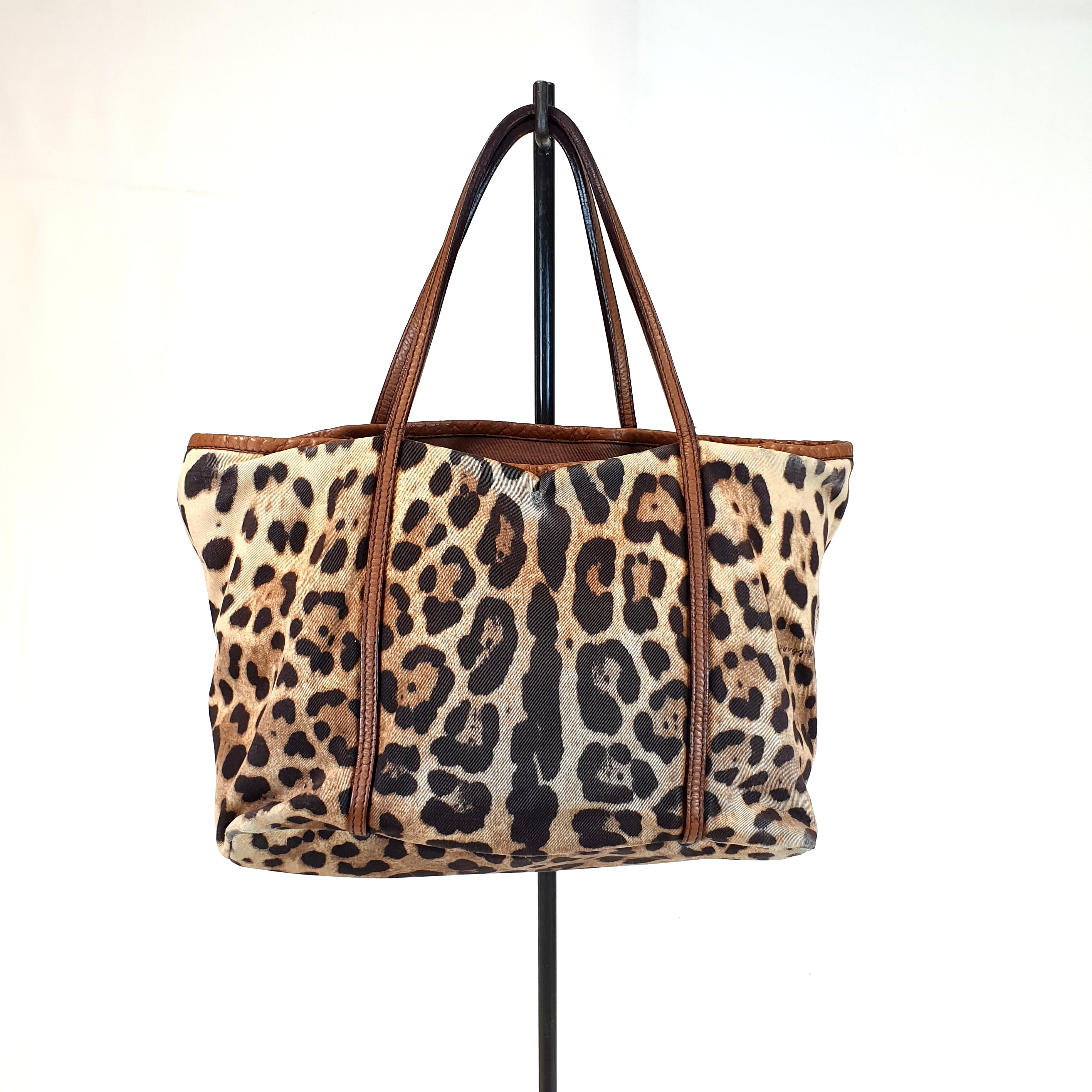Dolce & Gabbana Leopard Shopper Bag
