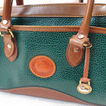 Load image into Gallery viewer, Dooney & Bourke Green Leather Hand/Shoulderbag