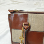 Load image into Gallery viewer, Linnen & Leather Patchwork Handbag