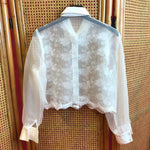 Load image into Gallery viewer, Transparant Blouse With Embroidery