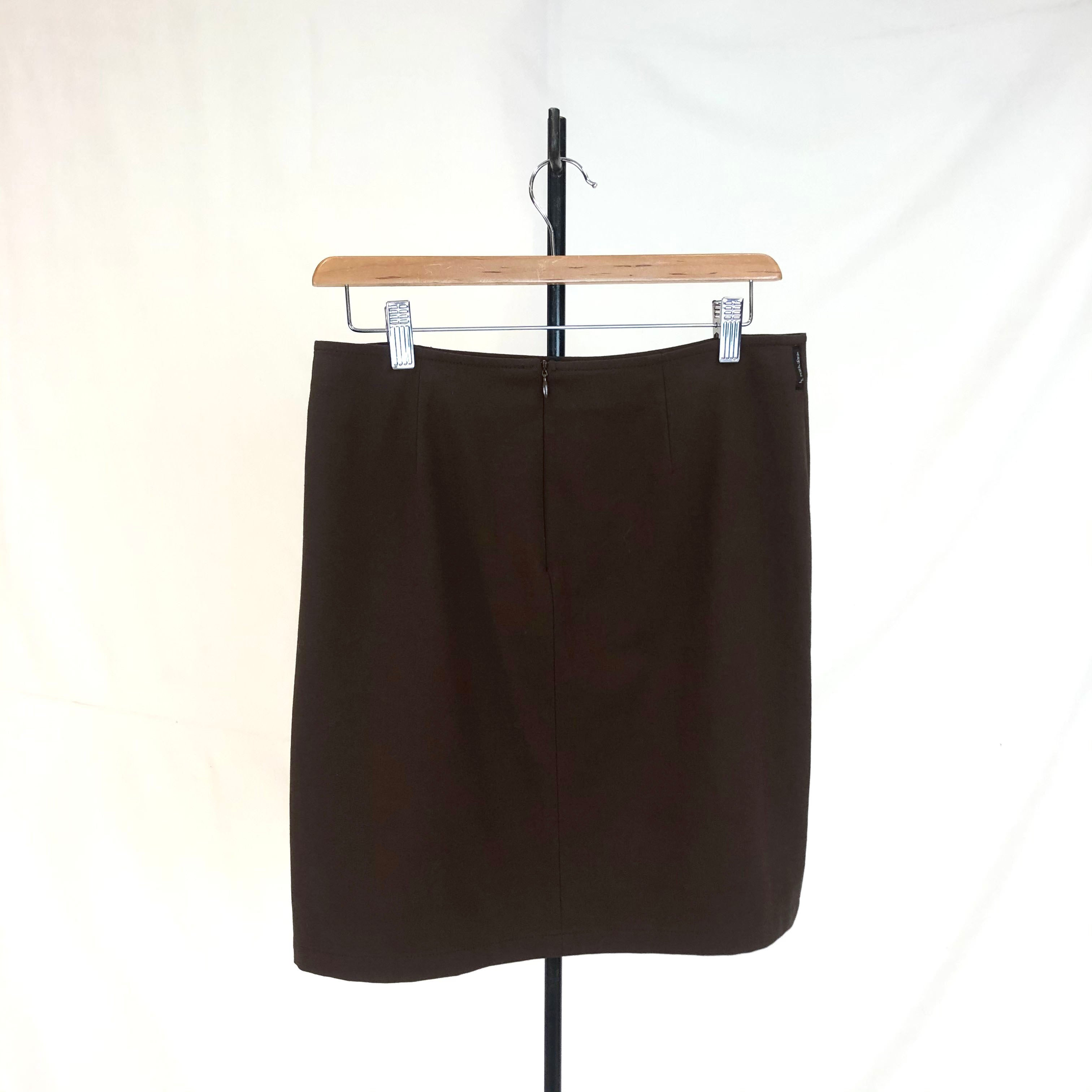 Armani Jeans Brown Skirt