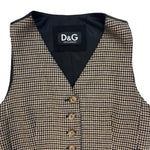 Load image into Gallery viewer, Dolce & Gabbana Brown Checkered Waistcoat