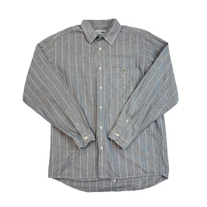 Lacoste Chemise Striped Gray Shirt